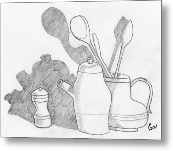 Still Life With Shadows Metal Print by Bav Patel