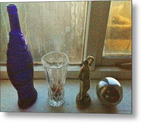 Still Life With Silver Ball Metal Print by John Parsons