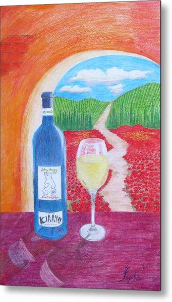 Tuscan Wine Metal Print
