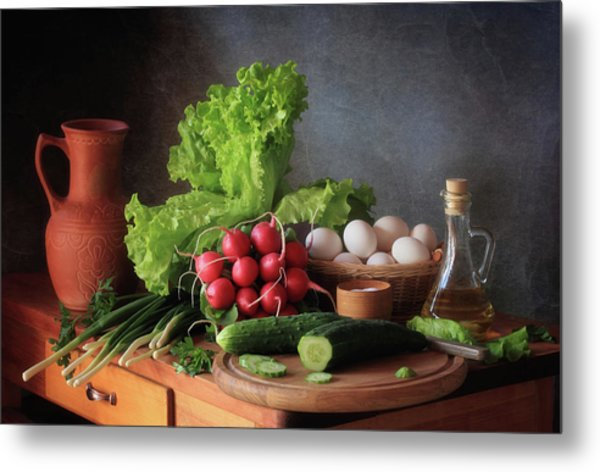 Still Life With Vegetables Metal Print