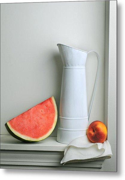 Still Life With Watermelon Metal Print