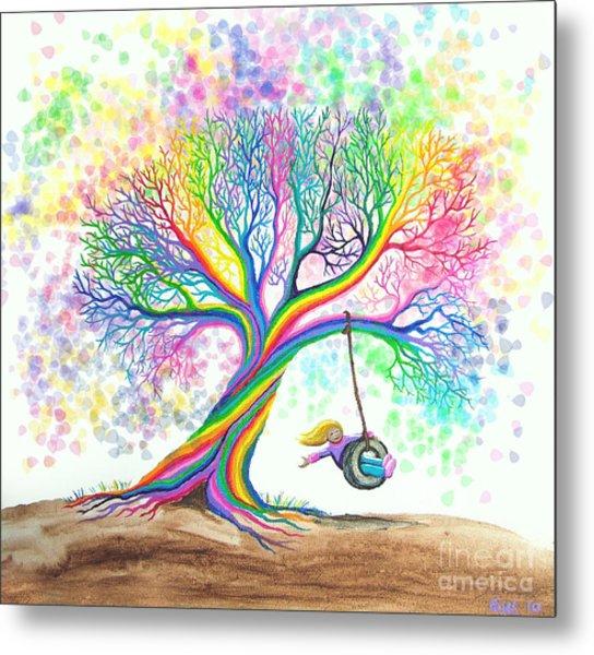 Still More Rainbow Tree Dreams Metal Print
