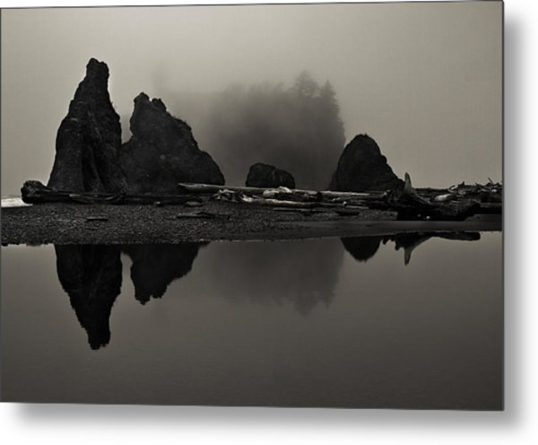Stillness At Ruby Beach Metal Print