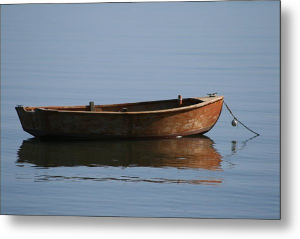 Stillness In Light And Shadow Metal Print