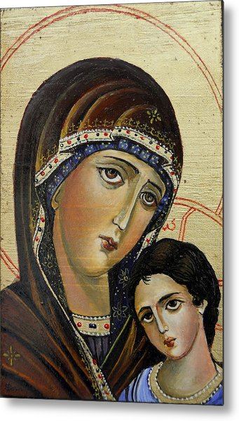 St.mary With  Jessus  Metal Print