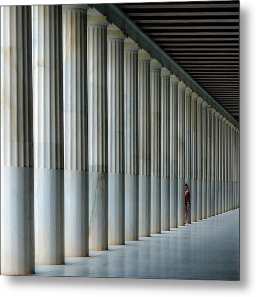 Stoa Of Attalos Metal Print