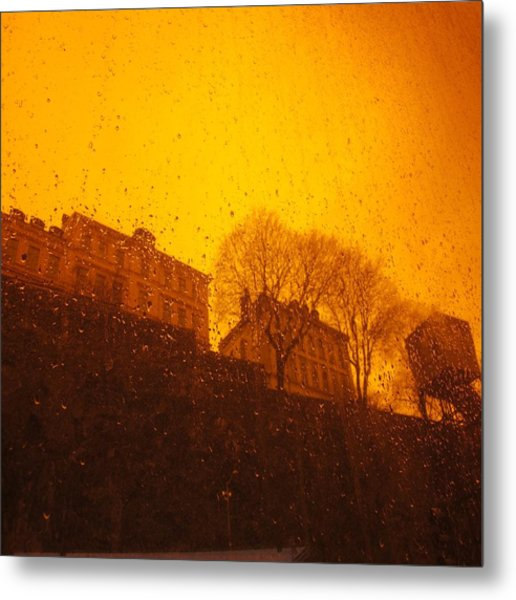 Stockholm The Heights Of South In Silhouette Metal Print