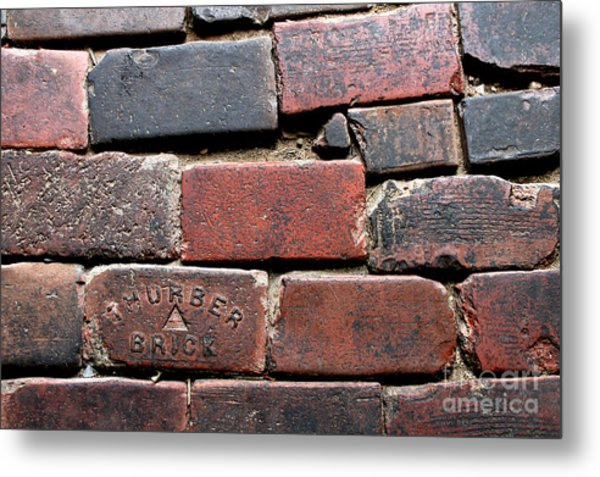Stockyards Brick Metal Print