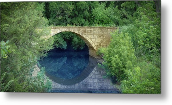 Stone Arch Bridge In Butler County Metal Print