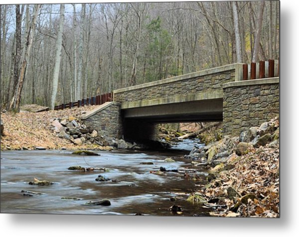 Stone Bridge At Cherry Run #1 - Bald Eagle State Forest Metal Print