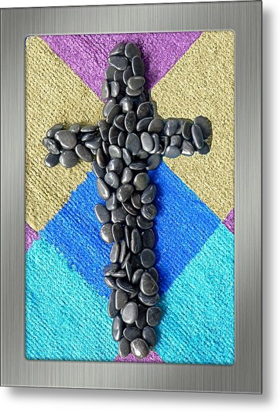 Stone Cross Metal Print