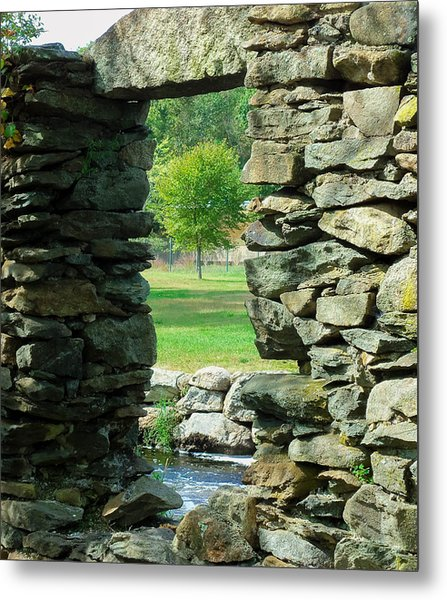 Stone Framed Tree Metal Print by Heather Sylvia