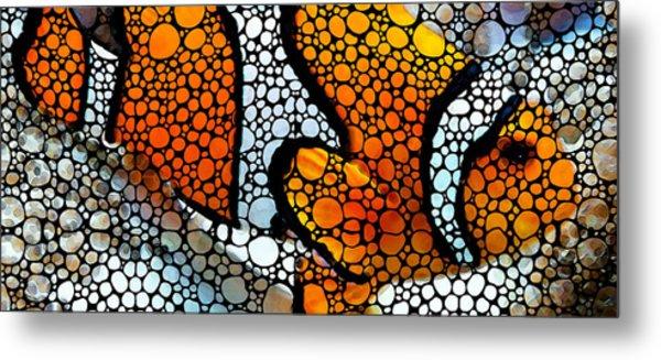 Stone Rock'd Clown Fish By Sharon Cummings Metal Print