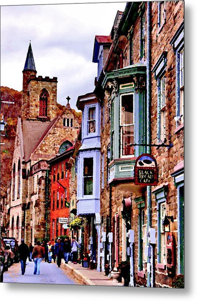Stone Row - Jim Thorpe Pa Metal Print