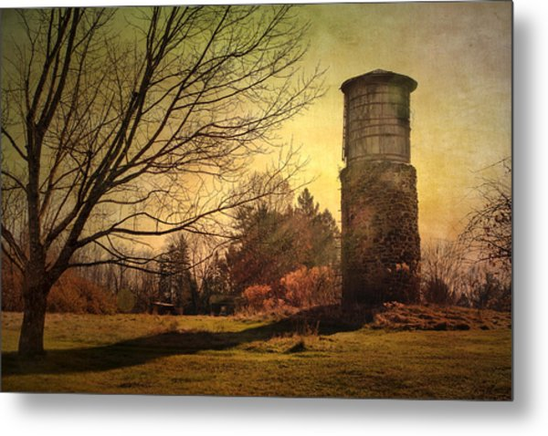 Stone Silo And Water Tower  Metal Print