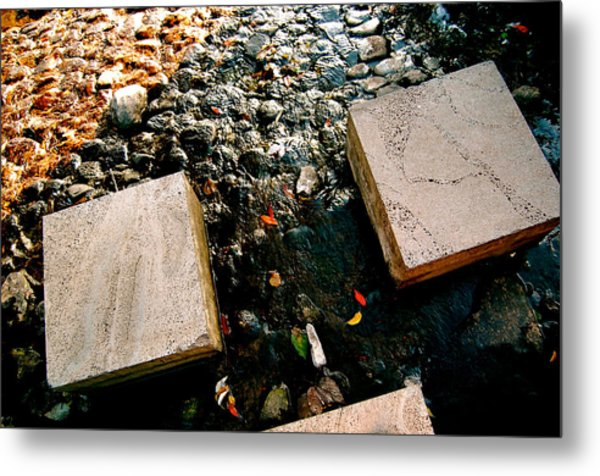 Metal Print featuring the photograph Stone Walking by Yen