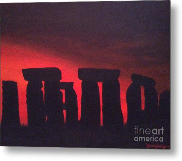 Stonehenge At Dusk Metal Print