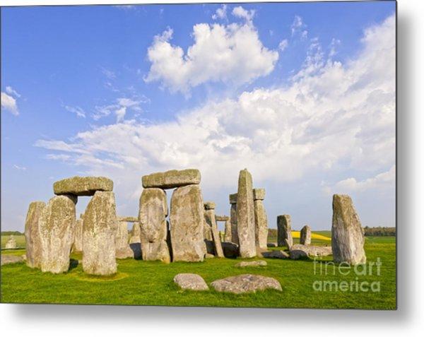 Stonehenge Stone Circle Wiltshire England Metal Print