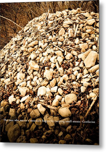 Stones Metal Print by BandC  Photography