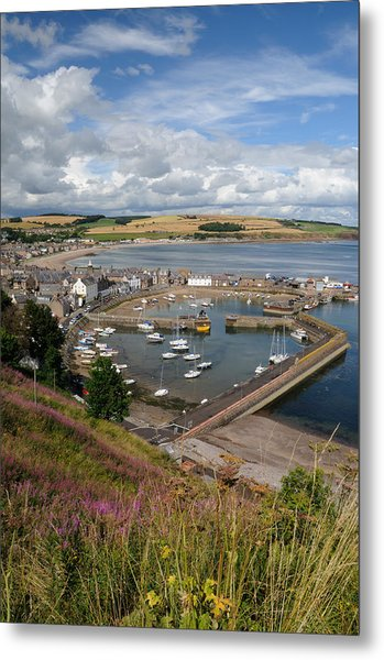 Stonhaven Harbour  Scotland Metal Print