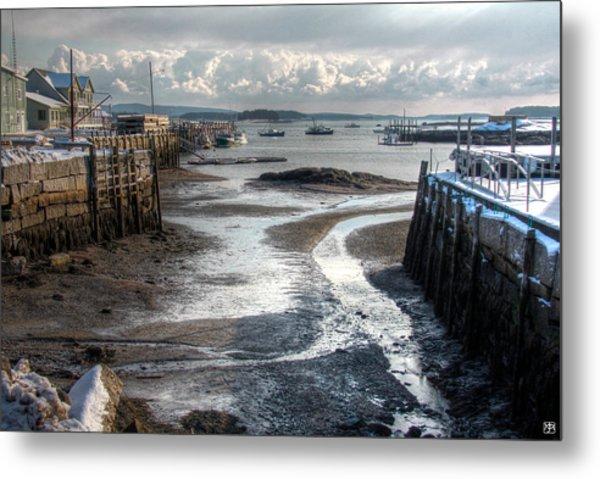 Stonington Low Tide Metal Print