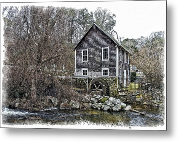 Stony Brook Gristmill Metal Print by Constantine Gregory