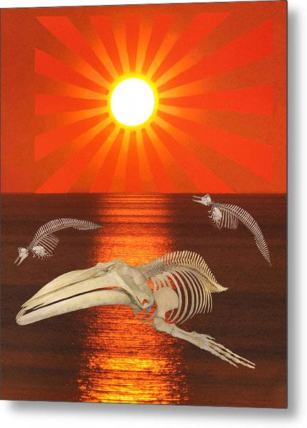 Metal Print featuring the mixed media Stop The Slaughter by Eric Kempson