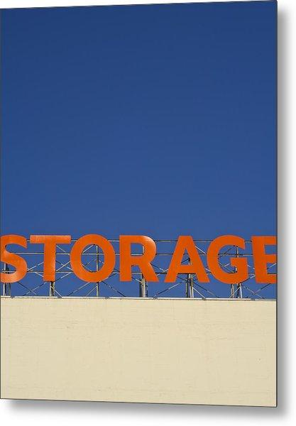 Storage Metal Print
