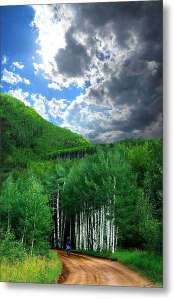 Storm Above Pennock Pass Colorado Metal Print by Ric Soulen