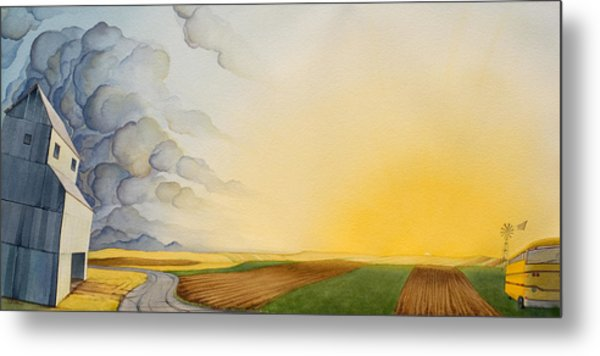 Storm And Sunset II Metal Print