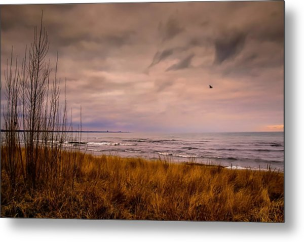 Storm Approaching At Dusk Metal Print