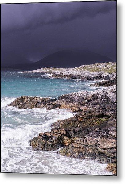 Storm Approaching Luskentyre Metal Print by George Hodlin