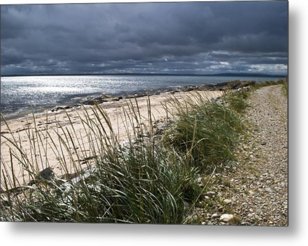 Storm Arising Dornoch Beach Scotland Metal Print
