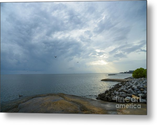 Storm At Big Mouth Metal Print by Russell Christie