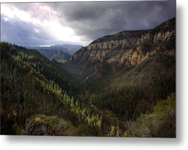 Storm At Oak Creek Canyon Metal Print