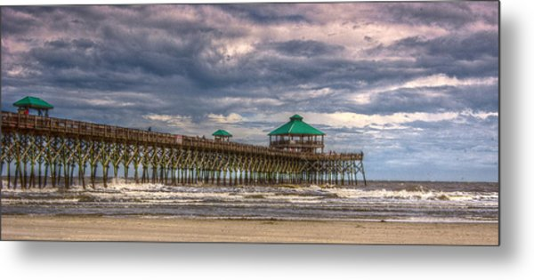 Storm Clouds Approaching - Hdr Metal Print