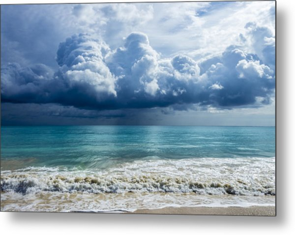Storm Clouds At Waimanalo Metal Print