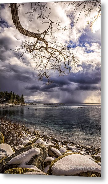 Storm Clouds From Cave Rock Metal Print