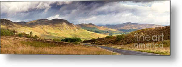 Storm Clouds Over The Glen Metal Print