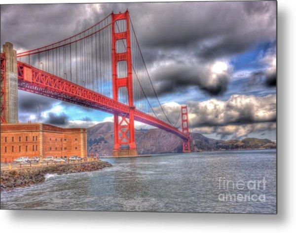Storm Clouds Over The Golden Gate Bridge 2 Metal Print