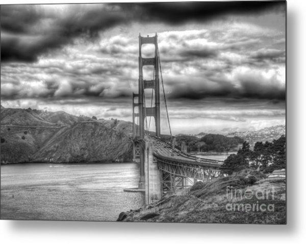 Storm Clouds Over The Golden Gate Bridge Metal Print
