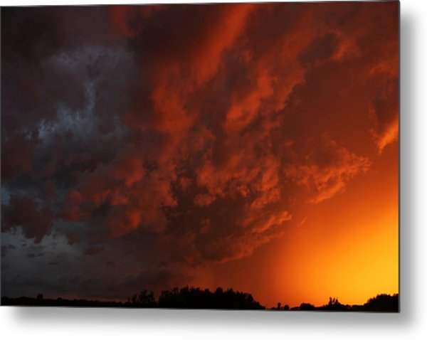 Storm Clouds Over Yorkton II Metal Print