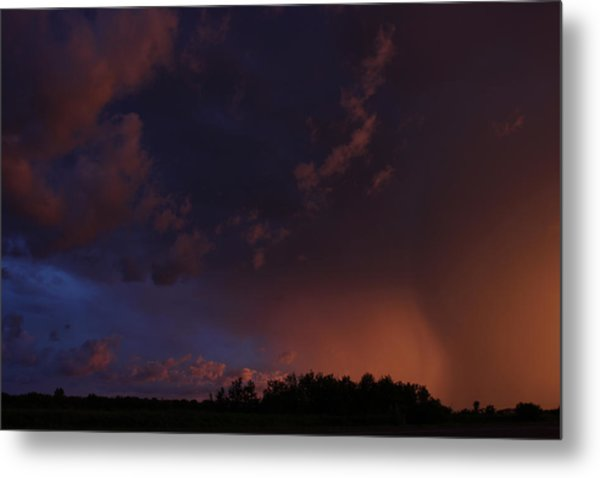 Storm Clouds Over Yorkton IIi Metal Print