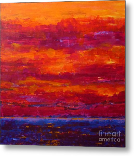 Storm Clouds Sunset Metal Print