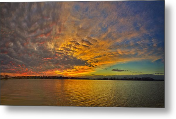 Storm Front Sunset II Metal Print by Dan Holland