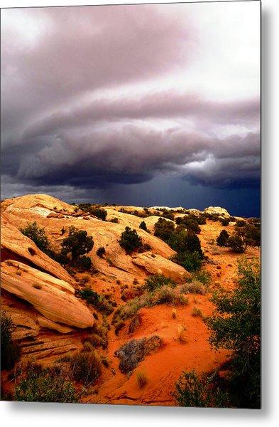 Storm In The Desert Metal Print