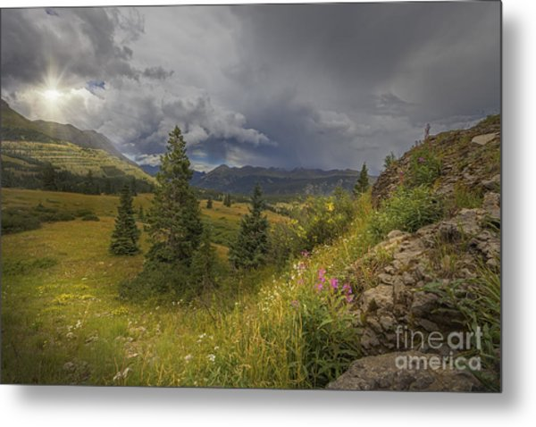 Storm In The Distance Metal Print