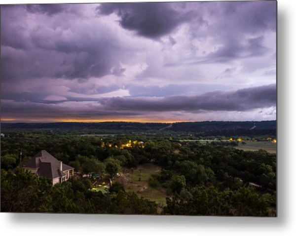 Storm In The Valley Metal Print