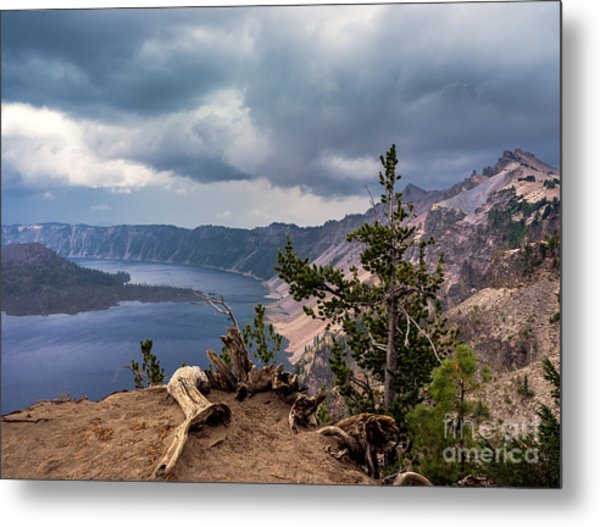 Storm Looming Metal Print