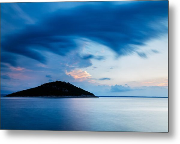 Storm Moving In Over Veli Osir Island At Sunrise Metal Print